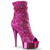 DELIGHT-1008SQ Fuchsia Sequin/Chrome